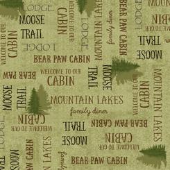 Moose Trail Lodge LODGE LINGO LIGHT GREEN