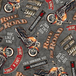 Rule the Road BIKER LINGO GRAY