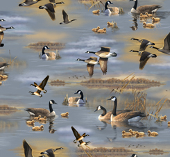 FLYING GEESE SCENIC CHAM