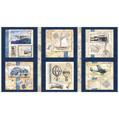 WANDERLUST PICTURE PATCHES NAVY - Traveling
