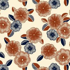 Gretta 1930'S Spaced Floral Cream 26739