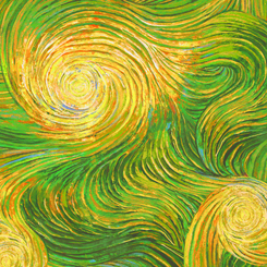 Quilting Treasures Artworks XX OMBRE SWIRL GREEN