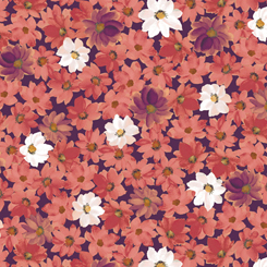 LILIAN PACKED FLORAL PLUM