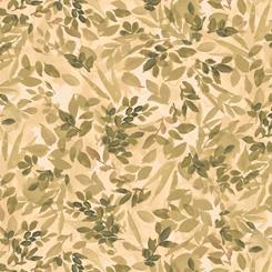 QT Fabrics, Lilian, Leaf Spray, Green