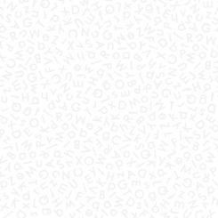 Quilting Illusions ALPHABETS WHITE