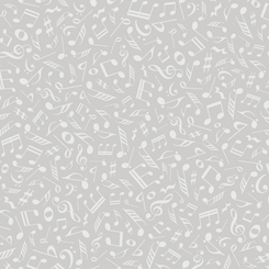 Quilting Illusions MUSICAL NOTES GRAY