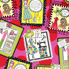 SEW SASSY SEWING PATCHES TOSSED PINK