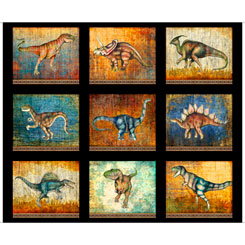 Quilting Treasures 1649-267970J LOST WORLD LARGE DINOSAUR PATCHES