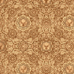 Quilting Treasures TIMBERLAND TRAIL 26809-A LODGE MEDALLION LIGHT BROWN