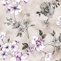 JULIETTE SPACED FLORAL VINE- Grey