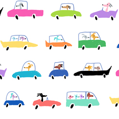 Dogtown DOGS IN CARS WHITE