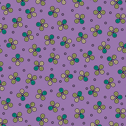 Green Circle Geometric Toss on Purple:  Echo by Quilting Treasures