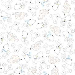 LIL' SWEETIES ANIMAL LINEWORK WHITE SALE