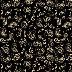 FINE TUNING MUSIC NOTES BLACK