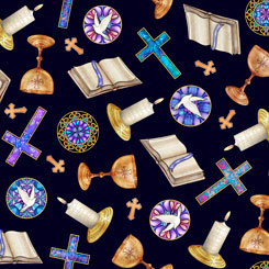 Faith RELIGIOUS TOSS NAVY