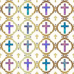 Faith - Crosses Lt Cream