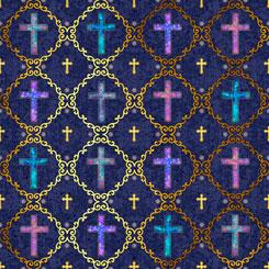 FAITH CROSSES NAVY 26873n