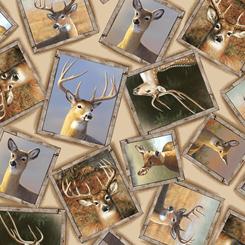Deer Valley FRAMED DEER CREAM