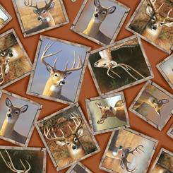 Deer Valley Framed Deer Terracotta