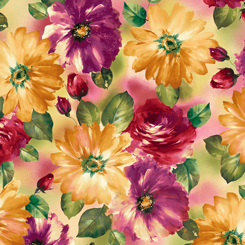 QT - DANIELLE WATERCOLOR FLORAL MULTI - 26896-X
