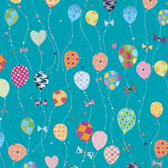 LET'S CELEBRATE BALLOONS TURQUOISE 26903-Q