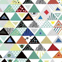 26907Z Wild Side Triangles White