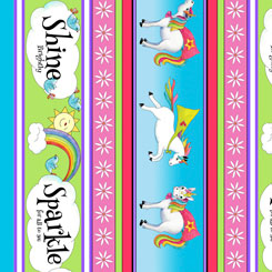 Party Like A Unicorn UNICORN DECORATIVE STRIPE MULTI-26910-X