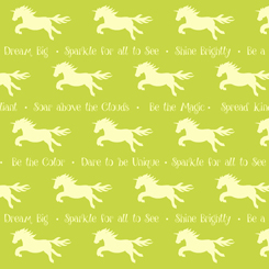 Party Like A Unicorn UNICORN SILHOUETTES SPRING GREEN-26913-G