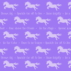 Party Like A Unicorn UNICORN SILHOUETTES DARK LILAC-26913-V