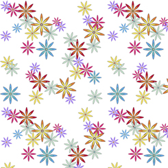 Party Like A Unicorn FLOWERS WHITE-26914-Z