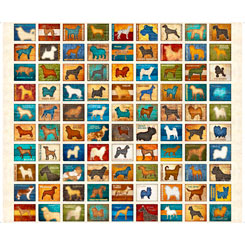 Must Love Dogs DOG PATCH OATMEAL Panel