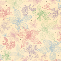 Midnight Garden SKETCHED FLORAL CREAM