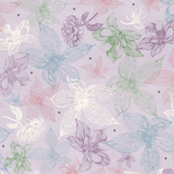 Midnight Garden SKETCHED FLORAL LIGHT LILAC