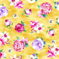 Annabelle floral yellow