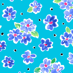 Delilah TOSSED FLORAL DARK TURQUOISE