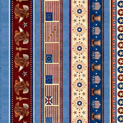 American Pride PATRIOTIC MULTI STRIPE BLUE