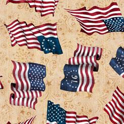 American Pride FLAG TOSS TAN
