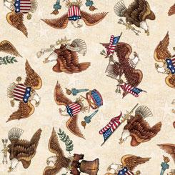 American Pride EAGLE TOSS CREAM 26976-E