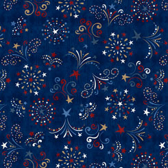 Fireworks Fat Quarter - Navy American Pride Collection by QT Fabrics