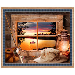 Artworks XX SUNSET LAKE PANEL MULTI