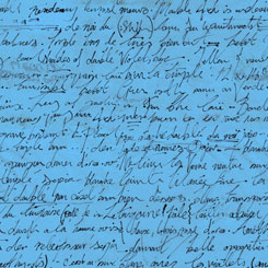 Sweet Caroline - Calligraphy<br>26992-B - Blue