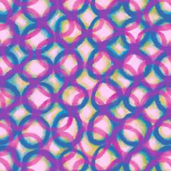 Mirage Interlocking Circles - Pink