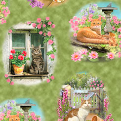 Fancy Felines CATS VIGNETTES MULTI