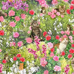 Fancy Felines CATS IN GARDEN MULTI
