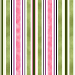 Fancy Felines Stripe Green/Pink