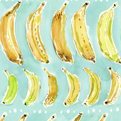 1649 27045 Q Wild & Fruity Banana for Quilting Treasures Fabrics. 100% cotton 43 wide