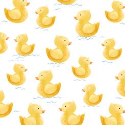Quackers RUBBER DUCKIES WHITE