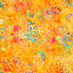Radiance Splatter Orange by Dan Morris at QT Fabrics