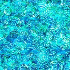 27099-B Blue Scroll | Radiance by Dan Morris for QT Fabrics