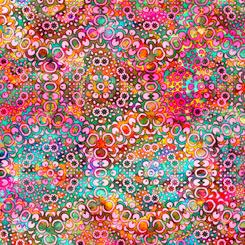 QT Fabrics 1649-27100-P Rhythm KALEIDOSCOPE CARNATION